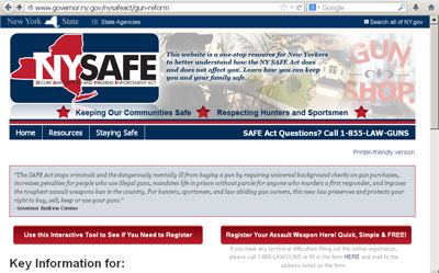 This is a link to the Governor's page on the SAFE Act